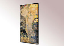 Gustav Klimt Water Serpents I Canvas Wall Art Picture Ready To Hang