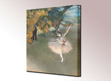 Edgar Degas Canvas Wall Art Print Ballerina Dancer Stage Framed Picture Ready