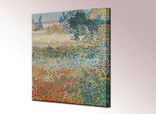 Van Gogh Canvas Art Print Vincent Garden in Bloom Framed Wall Picture Ready Hang