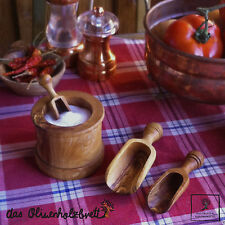 Herb Measuring Spoon And Scoops Made From Olive Wood