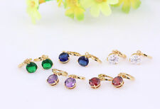 18K Gold Plated Fashion Crystal Rhinestone Drop Jewelry Dangle Dangly Earrings