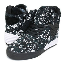 SUPRA SKYTOP 1V 4 MENS HI SKATE SHOE HIGH TOPS BLACK PATTERN / WHITE