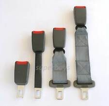 """Grey Seat Belt Extension 22mm 7/8"""" Inch Clip Tongue Extender Car Strap Buckle"""