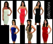 New womens ladies glam strapless bodycon boobtube wiggle party dress size 8-16