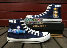 CONVERSE Chuck Taylor All Star DOCTOR WHO science-fiction hand painted shoes*