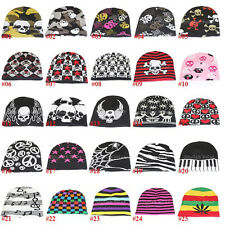 Multiple Style Knitted Acrylic Wool w/Spandex Rib Stretchy Unisex Beanie Cap Hat