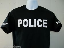 POLICE Tee T-Shirt, Your Choice Of Shirt Color & Print Colors, Free Shipping