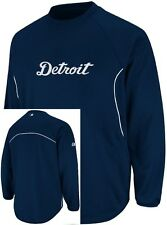 Detroit Tigers Majestic Authentic Therma Base Tech Fleece Navy Big & Tall Sizes