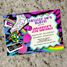Totally 80s! - 1980s Themed Birthday Invitations - Colorful