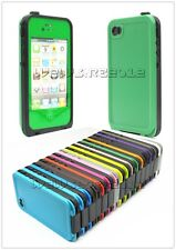 Water Proof Anti Shock Dust Plastic Gel Hard Case Cover Housing for iPhone4 4S