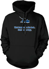 What Happens On The Boat Stays Fishing Funny Humor Hoodie Pullover Sweatshirt