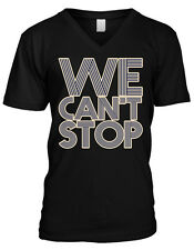 We Cant Stop Lyrics Miley Cyrus Party Swag Twerking Music Mens V-neck T-shirt