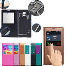 Window S-View PU Leather Flip Case Cover for Samsung Galaxy S5 i9600 G900 S V