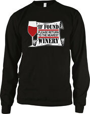 If Found Please Return To The Nearest Winery Funny Vino Wine Long Sleeve Thermal