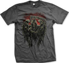 Grim Reaper Death Dealer Dead Scary Scythe Skull  FREE SHIPPING New Mens T-shirt