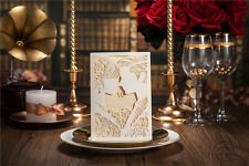 Classic Style Wedding Invitation cards Marriage Greeting Free Seals Enves WI1015