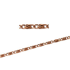 Wholesale Lots Cable Chains Jewelry Making Copper Tone 7x2mm B31871