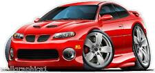 2004 GTO Cartoon Cars Wall Decals Garage Graphics Window Cling Bar Man Cave Art