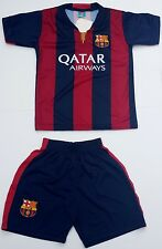 2014-15 KIDS MESSI #10 BARCELONA SOCCER JERSEY & SHORT YOUTH SIZE Home and Away