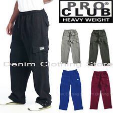 1 NEW PRO CLUB MEN'S CARGO SWEAT PANTS TRACK FLEECE HEAVY WEIGHT SIZE: S-5XL