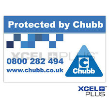 "Chubb Burglar Alarm ""Protected by Chubb"" Window and Door Stickers"