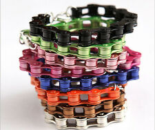 14 Colors Punk Metal Bicycle Chain Bracelet Fluorescent Bracelet Wholesale Gilf