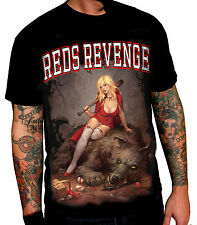 Wild Star REDS REVENGE FEAR NO 1 Men's T-Shirt Rock, Goth, Tattoo, Biker