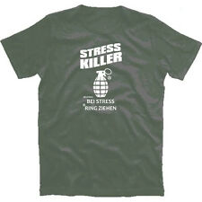 T-Shirt Stress Killer Bei Stress Ring Hand-grenade Ziehen S-2XL