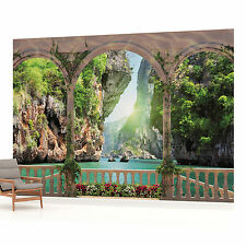 Arches Paradise Beach View Photo Wallpaper Wall Mural (CN-1071P)