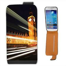 Big Ben & Houses Of Parliament At Night Leather Flip Case for Samsung S4 Mini