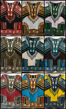 Men Women Dashiki hippie shirt blouse Poncho Tribal African Mexican Free size*