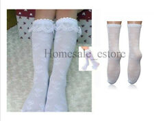 New White Kid Toddler Boy Girl Soft Knee High Lace Sock 3-8 years Tights Legging