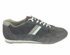 Prada Sneakers Men Suede Color Grey