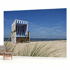 Beach & Chair Photo Wallpaper Wall Mural (CN-738VE)
