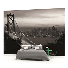 Black and White Golden Gate Bridge San Francisco City Photo Wallpaper Wall Mural