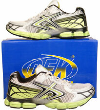 Mens New Grey Green Sports Running Gym Air Trainers Size 6 7 8 9 10 11 12