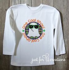 Boy Infant Toddler Halloween Ghost Sunglasses Long Sleeve Embroidered Shirt