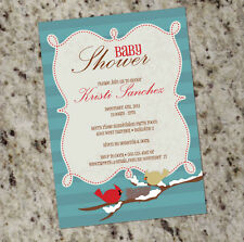 *Cardinals* - Winter Holiday or Bird Themed Baby Shower Invitations