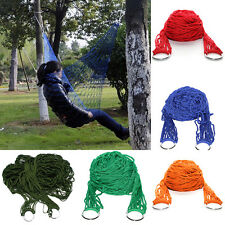 Portable Nylon Hängematten Hanging Mesh Schlaf Bed Swing Outdoor Camping Travel