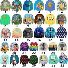 3D Graphic Print Cartoon Cute Funny Sweatshirt Top Hip Hop Jersey Casual Sweater