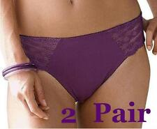 #U10 - 2 Pair  Ladies Plus Size 18 20 22 24  Lace Hipster Brief Panties Knickers