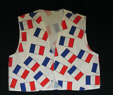 Kids French Flag Waistcoat  Boys Girls S M L France Schools Countries Eurovision
