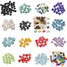 Wholesale New Fashion 50pcs/80pcs Rondelle Crystal Glass Loose Spacer Beads