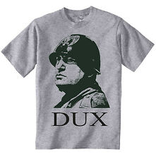 BENITO MUSSOLINI WWII WORLD WAR II QUOTE - NEW AMAZING GRAPHIC GREY TSHIRT