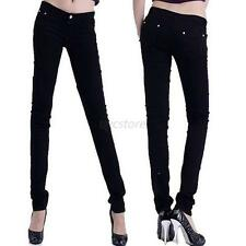 Women Skinny Candy Color Stretch High Waist Pencil Pants Leggings Trouser Jeans