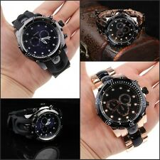 New Luxury Fashion style Original Men's Date Black and Gold Dial  Wristwatch