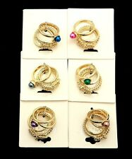 GOLD STACK RINGS 4PC SET ABOVE KNUCKLE RING MIDI RING INSTYLE JEWELRY FASHION
