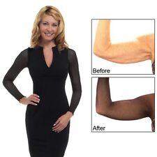 Solid Black Amazing Arms Sheer Arm Coverage Sleeveless Undergarment Flab to Fab