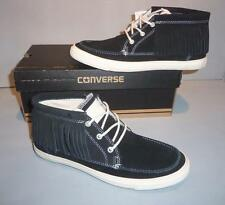 Converse Women's CT All Star Black Suede Moccasin MID MOC Fringe Shoes SIZES NIB