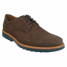 FULHAM WALK- MENS CLARKS DARK BROWN NUBUCK EXTRALIGHT SMART CASUAL LACE UP SHOES